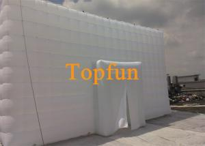 China Cube Inflatable Tent Air Structure / Inflatable White House Building Tent For Events on sale
