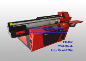 China Commercial Multicolor Flatbed Wood UV Printer With Ricoh Industrial Print Head on sale