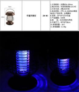 China Solar Light Pest Bug Mosquito Killer Solar Lamp Mosquito Killer on sale