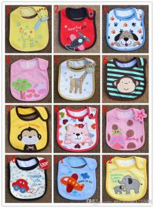 China Infant saliva towels 3-layer Baby Waterproof bibs Baby wear accessories kids cotton apron on sale