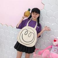 China Spring / summer 2018 new Japanese smiley face printed canvas bag women shoulder bag art handbag on sale