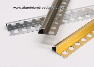 China Aluminium Decorative Bullnose Ceramic Tile Edge / Edging Trim  For Tile Walls on sale