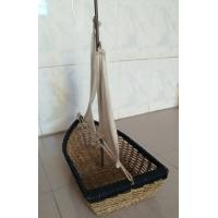 China Hot sale rattan basket, nice gift boat, rattan fruit baskets, snack baskets on sale