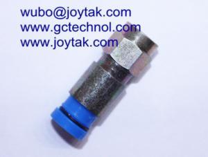 China Conector da compressão de F para o tipo impermeável do cabo RG6 universal toda a compressão do homem do bronze F on sale