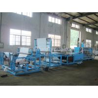 China Non - woven Fabric Sheet Folding Machine Touch Screen And PLC Control on sale