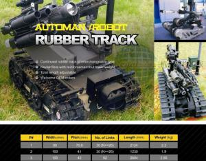 China Robot rubber track on sale