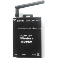 China WCDMA modem HSPA+ 3g RS232 modem two channels vioce with Data Rate .14.4Mbps on sale