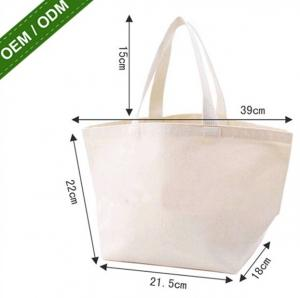 China Promotion Shopping Bag 100% ECO Cotton Foldable Canvas File Tote Bag on sale
