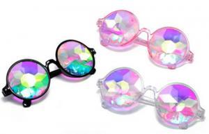 China Plastic Hony Newest Product , Flower Lense Kaleidoscope Glasses For Dance Musice Fesvital on sale