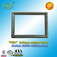 Photo Frame In Zamak Model No. F001 Gold Old Gold Bronze size 12*16.5cm zamak name plate frame