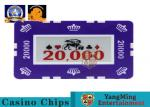 760 PCS Custom Printed Clay Plastic Poker Chips Gift Set in Silver Aluminium Case