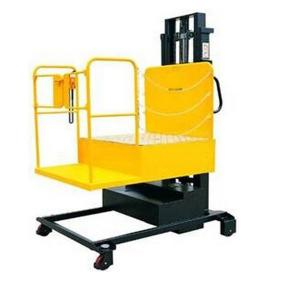 China 4.0 Ton Full-Electric Aerial Order Picker Stacker on sale