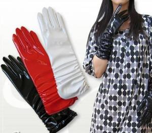 China Long PVC vinyl gloss gloves on sale