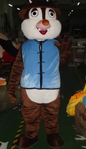 Quality Foam plastic squirrel chipmunk mascot kid animal costumes for commodity sales exhibition for sale