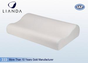 China Comfort Bamboo Fabrc Memory Foam Pillows White For Hotel SGS on sale
