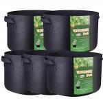 Garden Grow Bags 3 Gallon 5 Gallon 10 Gallon 25 Gallon 100 Gallon Aeration Fabric Pots Container Garden Potato Felt Grow