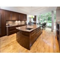 Luxury Customized Particle Board Kitchen Cabinets Lacquer Calacatta Quartz Countertops