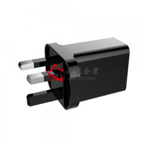 China Universal USB Travel Wall Charger QC3.0 UK Type Adapter For Cellphones on sale