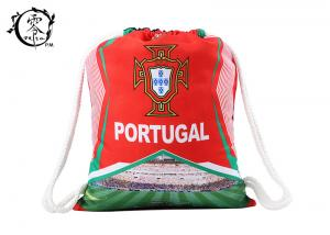 China Sport  Gym Portugal Printed Drawstring Backpack Patterned Thick Medium Sized on sale