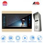 New 10 inch video door intercom for apartment with IP65 waterproof outdoor station