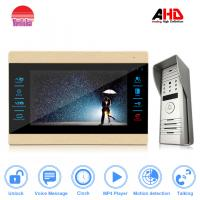 New 10 inch video door intercom for apartment with IP65 waterproof outdoor station