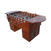 China Wood Veneer Soccer Game Table Premier Foosball Table With Solid Steel Rods on sale