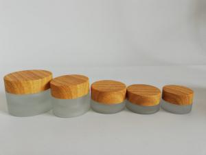 China Personal Care Luxury Glass Lotion Jars , Reusable Gold 2 Oz Makeup Jars on sale