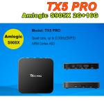 TX5 pro Android 6.0 Amlogic S905X Quad Core 64Bit 2g ram 16g rom smart box 2.4g 5g wifi