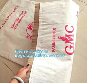 China kraft paper laminated pp woven bag for industry,paper bags laminated woven sack kraft poly lined bags with your own logo on sale