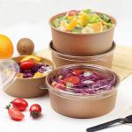 Noodle Hot Insulated 30oz Kraft Paper Salad Bowl
