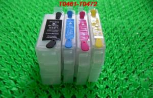China PP 15ML Refillable ink cartridge T0741-T0744 for Epson Desktop Printer with permanent chips on sale