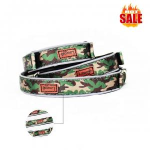 China Luxury Pattern Reflective Big Nylon Dog Collars , Pet Accessories Custom Dog Collar on sale