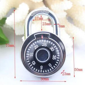 China 50MM Round Dial combination padlock/compass decorated padlock on sale