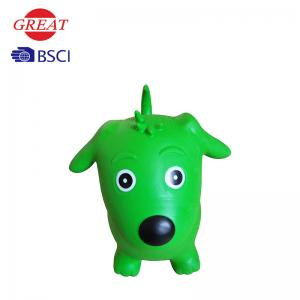 China Inflatable Dog Space Hopper , Green Hopper Ball 52*47*25cm Plastic Bags / Box Packing on sale