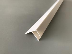 China Multi Purpose Extruded Plastic Profiles , Pvc F Profile Brilliant Printing Finish on sale