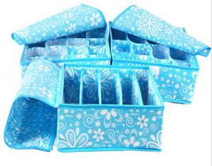 China Custom Printed Bra And Underwear Organizer Portable Collapsible Storage Box on sale