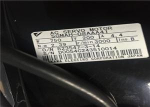 China Drip - Proof Industrial Servo Motor Reverse Connection 2.39Nm Rated Torque SGMAH-08AAA41 on sale