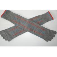 Ladies Cotton Five Fingers Toe Socks Knee High With Terry-loop