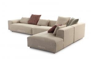 Quality Les sofas modernes de tissu de couleur beige, sofa italien de B/tissu de B con for sale