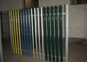 China Powder Coated Metal Palisade Fencing Gate Europe Type With 2-3.0mm Thickness Pale on sale