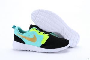 China For shipping for Women Nike Roshe Run Hyp Prm QS Black Light Green Yellow Golden shoe on sale