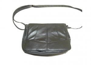 China Womens Hand Bags / Stylish Leather Lady Bag With Small Zipper Pocket on sale