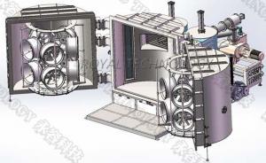China Automotive Wheel PVD Plating Machine ,  Car Rims Sputtering Vacuum Coating Unit on sale