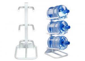 China Carbon Steel Luxury Water Bottle Rack For 3 Bottles / 5 Gallon Bottled Water on sale