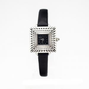 China Square Case Black Large Face Leather Banded Watches Index For Lady Or Men on sale