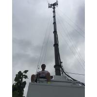high mast antenna tower,vehicle-mounted antenna telescopic mast, dark or silver color, 10m-30m antenna high mast pole