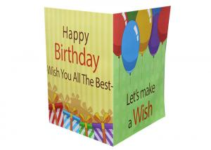 China 5X7 60 Seconds Recordable Greeting Card Module Audio Play With AG10 Battery on sale