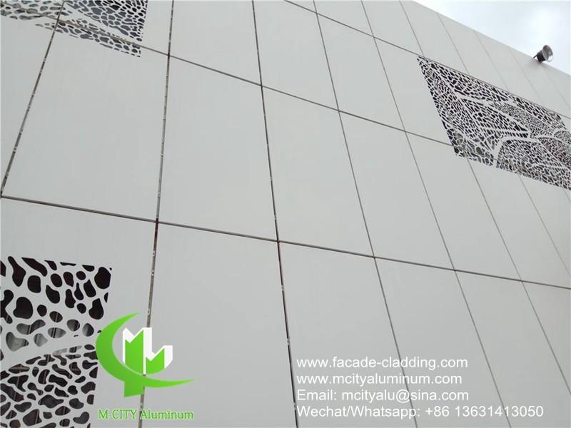 wall cladding metal aluminum panel powder coated outdoor