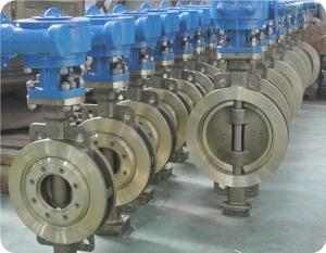 China CS/SS A216 WCB A351 CF8M/SS316 WAFER/FULL LUGGED metal seated Triple-Offset BUTTERFLY VALVE on sale
