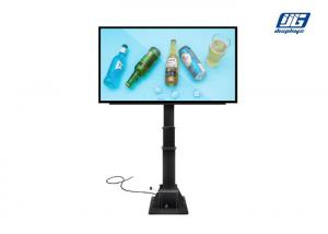China P6 Outdoor Hydraulic Pole Advertising LED Screen Player Floor Standing on sale
